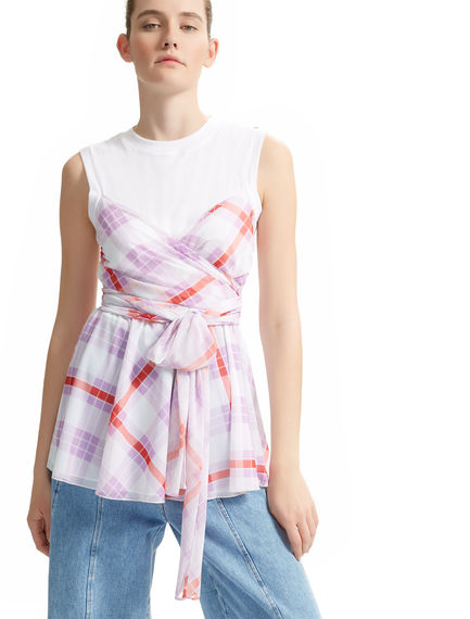Optical Layered Chequered Top Sportmax