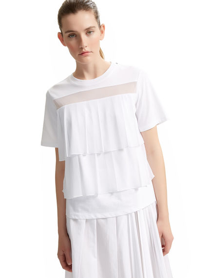 Layered Pleat-front T-shirt Sportmax