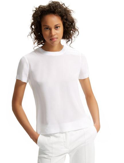Monochrome Silk & Jersey T-shirt Sportmax