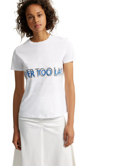 Never Too Late Cotton T-shirt Sportmax
