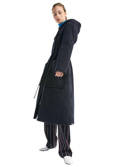 Cashmere & Wool Parka Coat