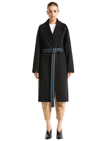 Double Cashmere Drawcord Sleeve Trench Coat