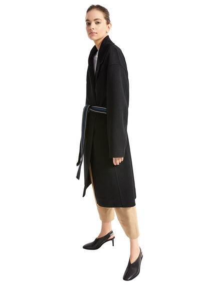 Double Cashmere Drawcord Sleeve Trench Coat Sportmax