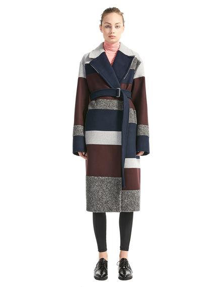 Inlaid Wool Coat