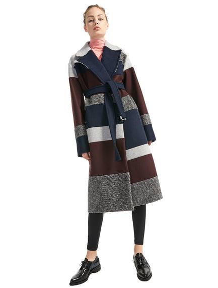 Inlaid Wool Coat Sportmax