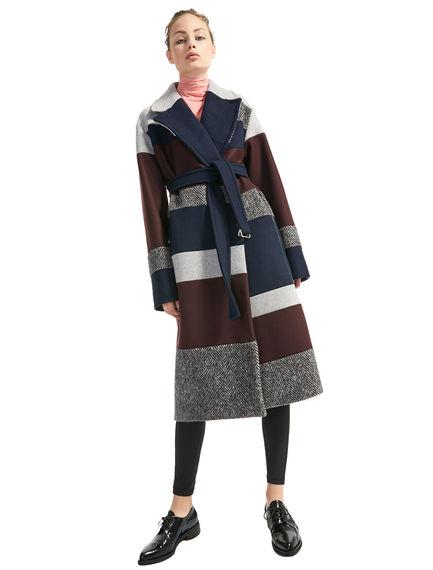 Cappotto in lana con intarsi Sportmax