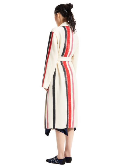 Wool & Mohair Stripe Trench Coat