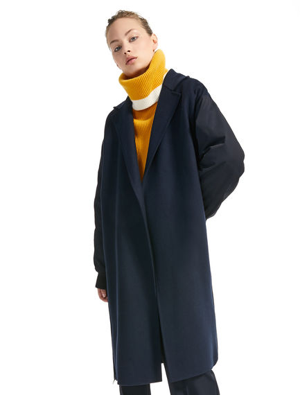 Wool & Nylon Contrast Coat
