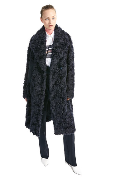 Mohair & Cotton Furry Coat
