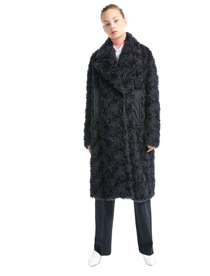 Mohair & Cotton Furry Coat Sportmax