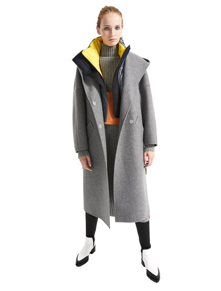 Wraparound Cashmere Coat