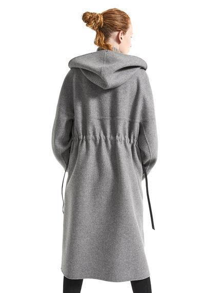Parka in lana e cachemire con maniche design Sportmax
