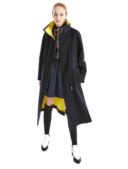 Cappotto in lana e cachemire con interno a contrasto