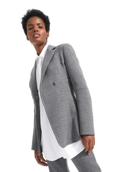 Geometrically Tailored Wool Jacket Sportmax