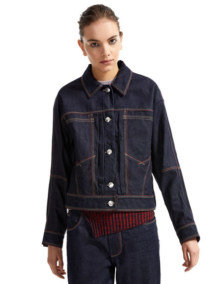 Giacca in denim con impunture Sportmax