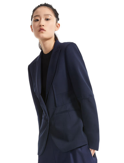 Two-tone Tailored Wool Blazer