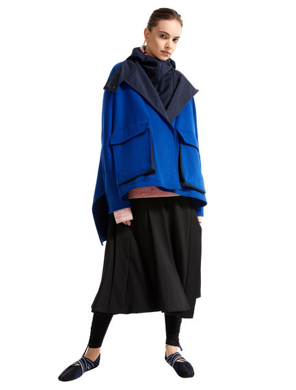 Two-tone Wool Parka