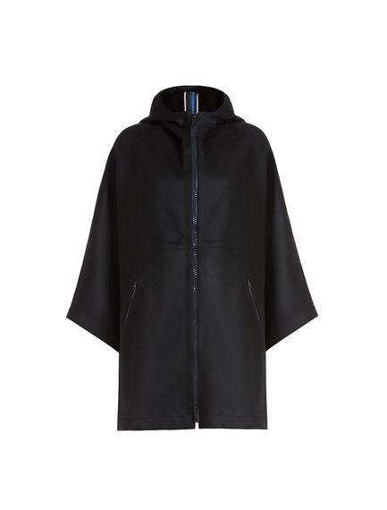 Double Cashmere Cape Jacket