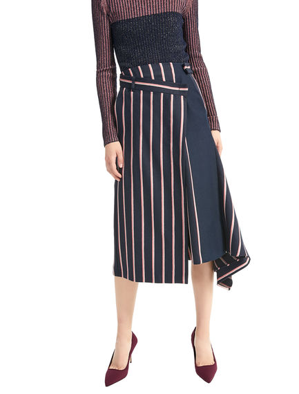 Asymmetric Pinstripe Skirt Sportmax