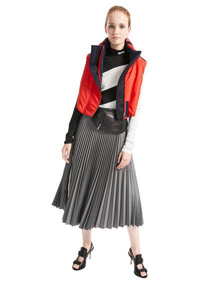 Houndstooth Pleat Skirt