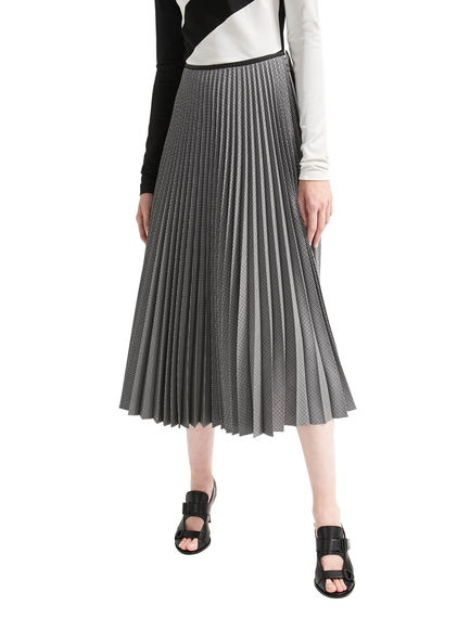 Houndstooth Pleat Skirt Sportmax