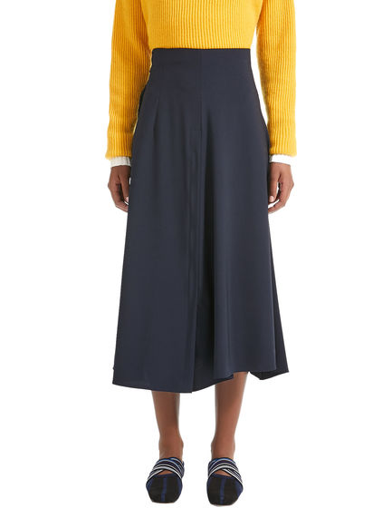 Flared Pleat Wool Skirt Sportmax