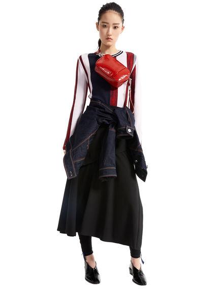 Asymmetric Layered Wool Skirt