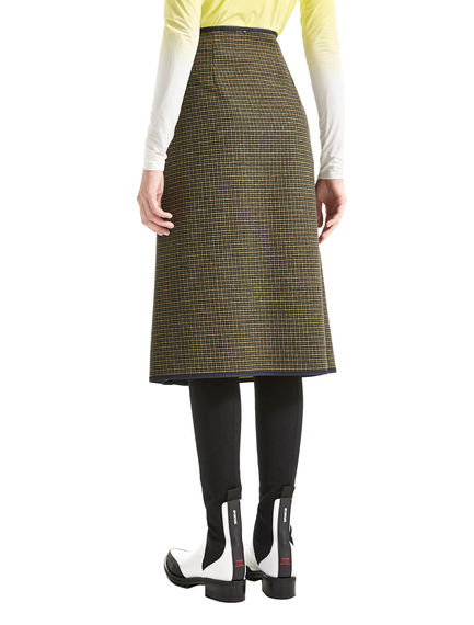 Zipped Houndstooth Skirt Sportmax