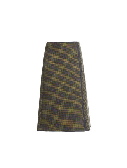 Zipped Houndstooth Skirt