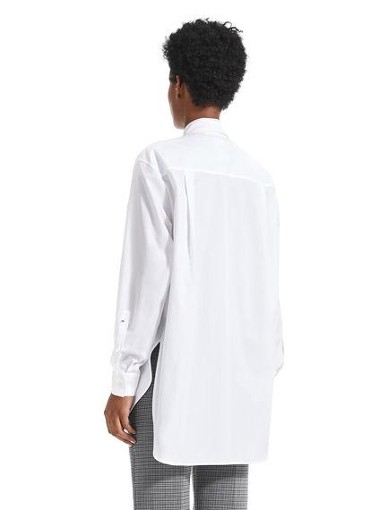 Transforming Pleated Poplin Shirt