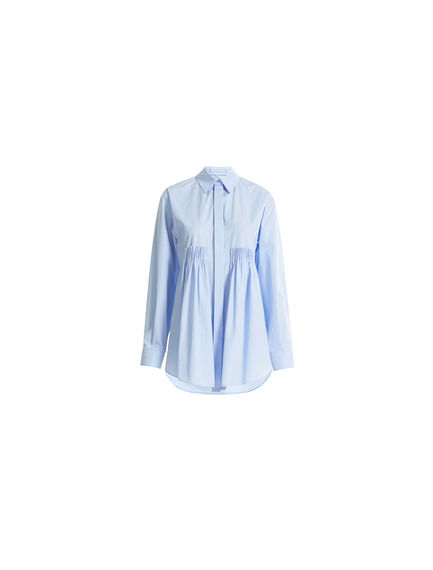 Transforming Pleated Poplin Shirt