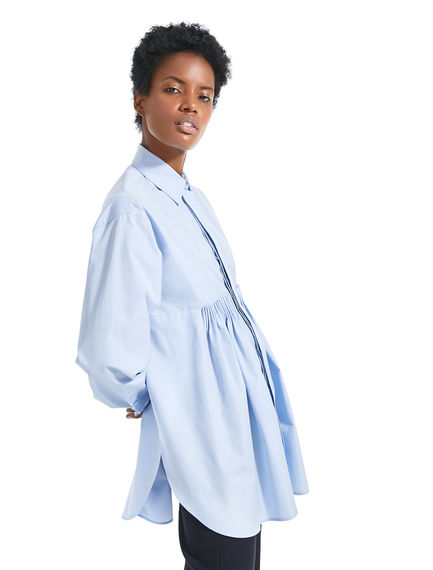 Transforming Pleated Poplin Shirt Sportmax