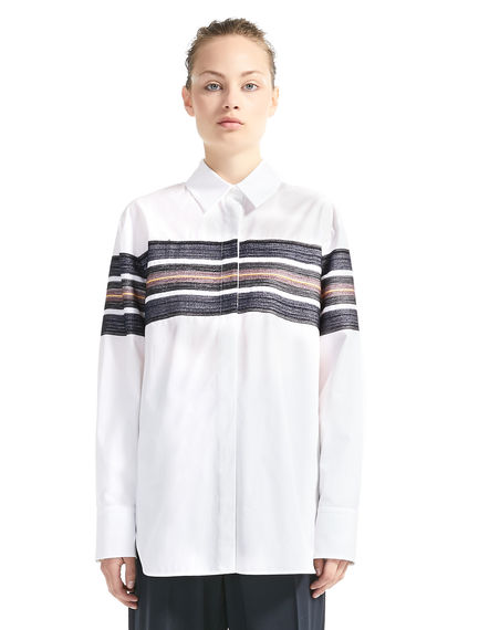 Embroidered Stripe Poplin Shirt Sportmax