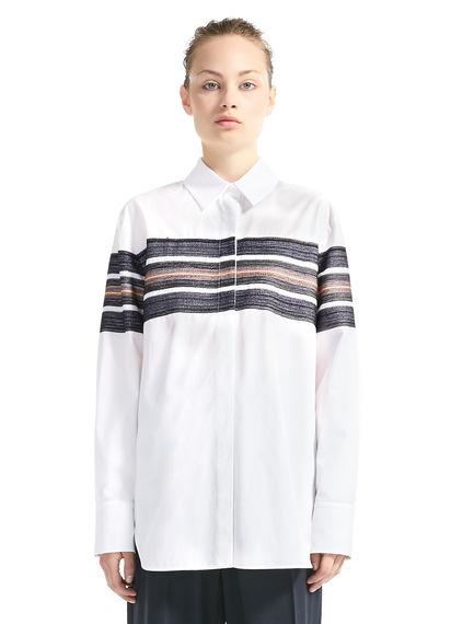 Embroidered Stripe Poplin Shirt
