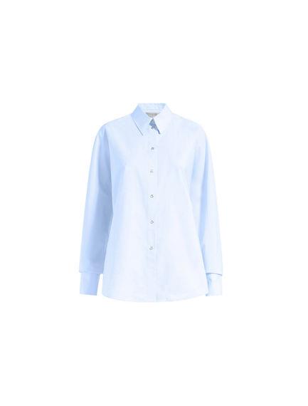 Contrast Stitch Poplin Shirt