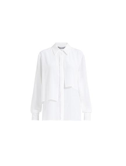 Asymmetric Layered Silk Blouse