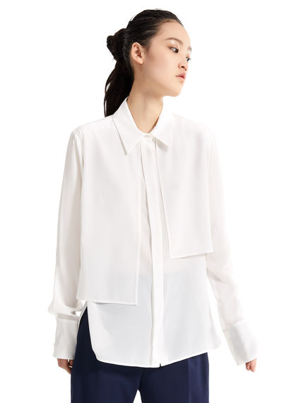 Asymmetric Layered Silk Blouse