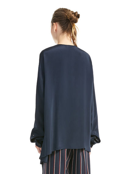 Asymmetric Silk Blouse