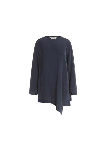 Asymmetric Silk Blouse