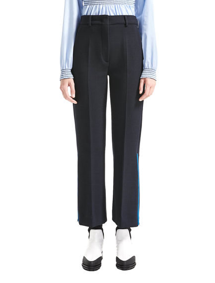 Zip-side Wide Leg Trousers