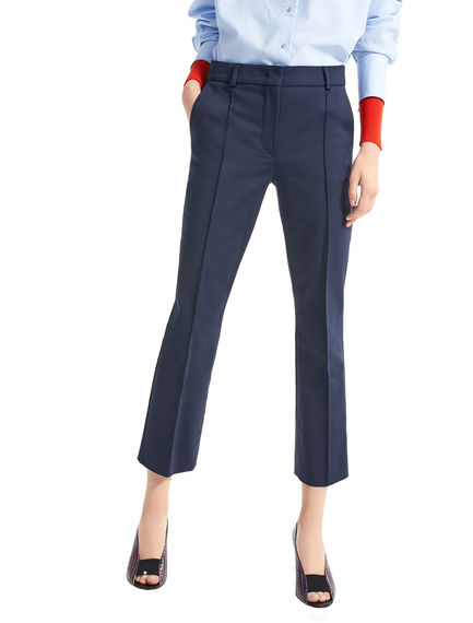 Stretch Cotton Cropped Trousers Sportmax