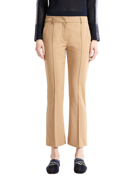 Pantalone cropped in cotone stretch