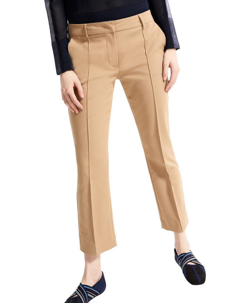 Cotone Cammello Pantalone Stretch Sportmax In Cropped aqOOwFEzx