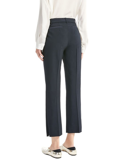 Cropped Stretch Wool Trousers