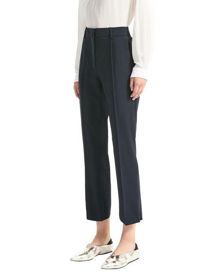 Pantaloni cropped in lana stretch