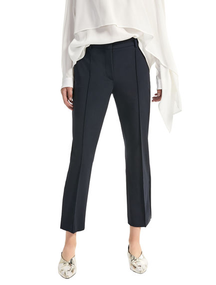 Cropped Stretch Wool Trousers Sportmax