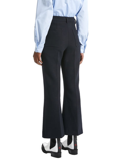 Patch Pocket Wool Trousers