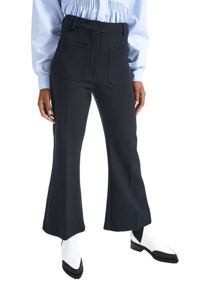 Patch Pocket Wool Trousers Sportmax