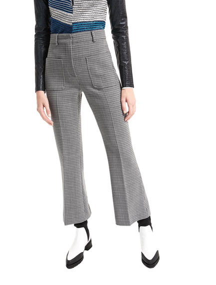 Pantaloni in lana con motivo microgeometrico Sportmax
