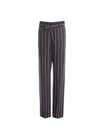 Pinstripe Wide Leg Trousers